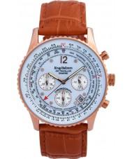 Krug-Baumen 400701DS Mens oranje lederen band horloge