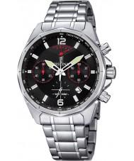 Festina F6835-2 Mens zilveren sportieve chronograaf horloge