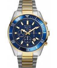Bulova 98B230 Mens marine ster blauwe stalen chronograaf
