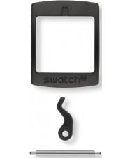 Swatch S639000222 Nieuwe gent zwarte plastic gesp-set