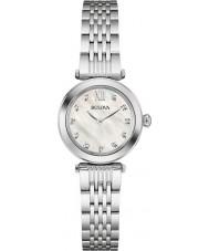 Bulova 96S167 Ladies diamanten zilveren stalen armband horloge
