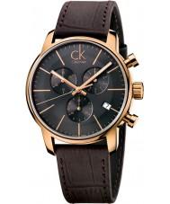 Calvin Klein K2G276G3 Mens stad grijsbruin chronograafhorloge
