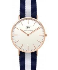 Daniel Wellington DW00100031 Dames klassieke Glasgow 36mm rose gouden horloge