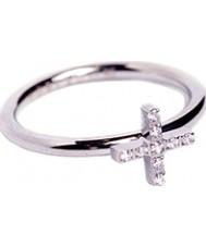 Edblad 79437 Ladies geloof kubieke Zircona stalen ring - size p (m)
