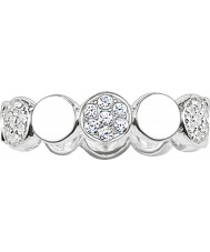 Thomas Sabo TR2048-051-14-56 Ladies sprankelend cirkels zirkonia pave ring band - size p.5 (eu 56)