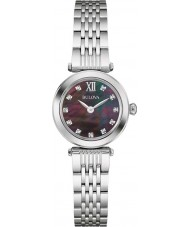 Bulova 96S169 Ladies diamanten zilveren stalen armband horloge