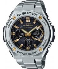 Casio GST-W110D-1A9ER Mens G-SHOCK radiogestuurde zonne zilveren horloge
