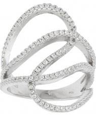 FROST by NOA 145006-54 Ladies rhodium vergulde ring met zirkonia - size n