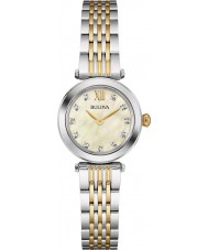 Bulova 98S154 Ladies diamant two tone stalen armband horloge