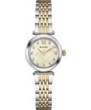 Bulova 98S154 Ladies diamant two tone stalen armband horloge