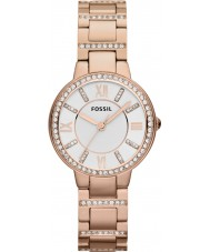 Fossil ES3284 Ladies Virginia rose goud stalen horloge