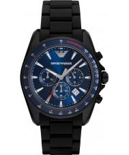 Emporio Armani AR6121 Mens sport zwarte gemengde band horloge