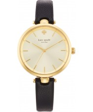 Kate Spade New York 1YRU0811 Ladies holland zwart lederen band horloge