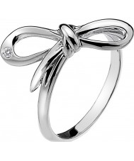 Hot Diamonds DR120-N Ladies bloei zilverkleurige ring - de grootte n
