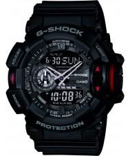 Casio GA-400-1BER Mens g-schok zwarte chronograaf horloge