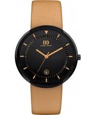 Danish Design Q29Q1125 Mens titanium bruin lederen band horloge