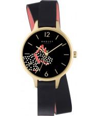 Radley RY2402 Ladies vloot straat zwart lederen band horloge