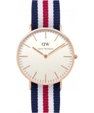 Daniel Wellington DW00100030 Dames klassieke canterbury 36mm rose gouden horloge