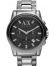 Armani Exchange AX2092 Heren zwart zilver chronograaf jurk horloge