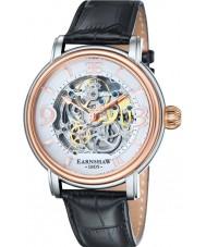 Thomas Earnshaw ES-8011-06 Mens longcase zwarte croco lederen band horloge