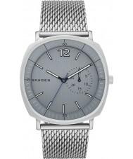 Skagen SKW6255 Mens Rungsted zilveren stalen gaas armband horloge