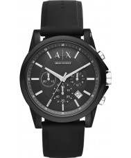 Armani Exchange AX1326 Sport zwarte siliconen chronograafhorloge