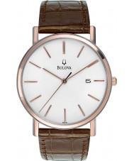 Bulova 98H51 Mens jurk wit bruin horloge