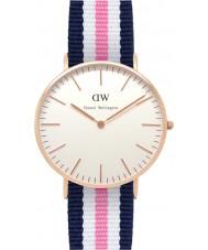Daniel Wellington DW00100034 Dames klassieke Southampton 36mm rose gouden horloge