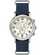 Timex TW2P62100 Weekender blauw bandje chronograafhorloge