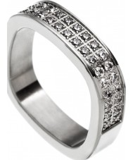 Edblad 83195 Ladies jolie cz grootte stalen ring - s (xl)