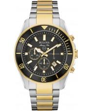 Bulova 98B249 Mens marine ster two tone chronograaf