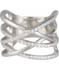 FROST by NOA 145023-52 Dames zilveren ring met zirkonia - maat L