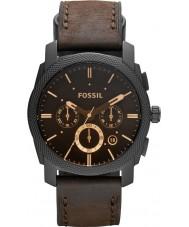Fossil FS4656 Mens machine chronograaf bruine horloge