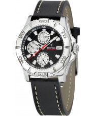 Festina F16243-6 Mens multifunctioneel lederen band horloge