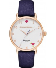 Kate Spade New York KSW1040 Ladies metro blauw lederen band horloge