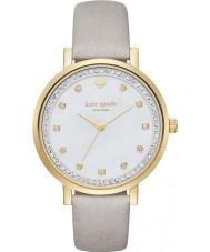 Kate Spade New York KSW1131 grijze dames monterey lederen band horloge