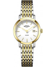 Rotary LB05301-01 Ladies uurwerken Windsor two tone vergulde horloge