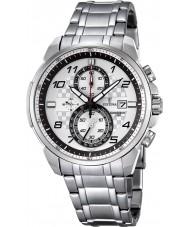 Festina F6842-2 Mens chronograaf zilveren staal chronograafhorloge