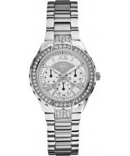 Guess W0111L1 Ladies viva zilveren stalen armband horloge