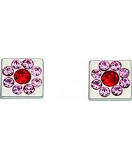 Orla Kiely E5224 Ladies sterling zilveren bloem kubus oorbellen met swarovski informatie