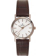 Bulova 98V31 Dames kleding wit bruin horloge