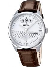 Festina F16873-1 Mens klassieke bruine lederen band horloge