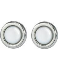 Skagen JESW020 Ladies witte parel stalen oorbellen