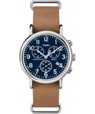Timex TW2P62300 Weekender bruine riem chronograafhorloge