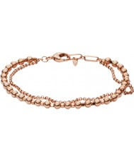 Fossil JA6776791 Dames mode rose gold brass kralen armband
