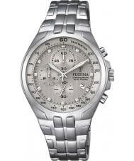 Festina F6843-2 Mens chronograaf zilveren staal chronograafhorloge