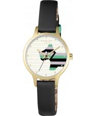 Radley RY2406 Ladies wilg zwart lederen band horloge