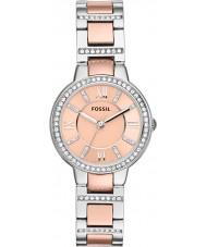 Fossil ES3405 Ladies Virginia rose gouden en zilveren horloge