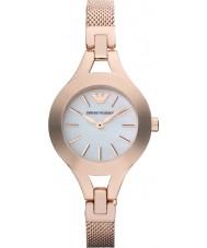 Emporio Armani AR7329 Dames parel en rose gouden jurk horloge