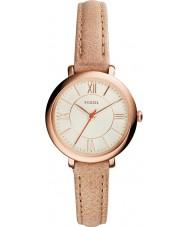 Fossil ES3802 Ladies jacqueline crème lederen band horloge